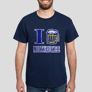 I BEER MILWAUKEE Dark T-Shirt
