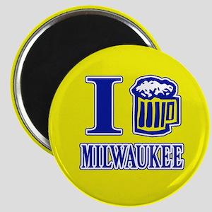 I BEER MILWAUKEE Magnet