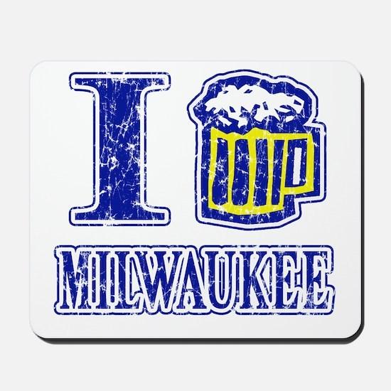 I BEER MILWAUKEE Mousepad