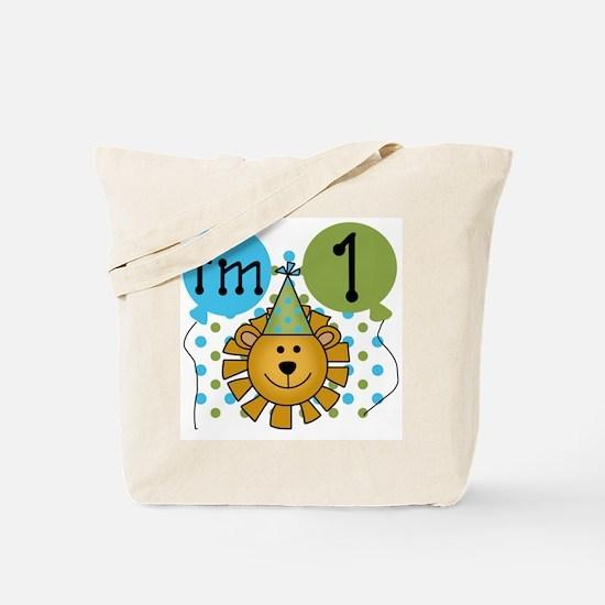Lion 1st Birthday Tote Bag