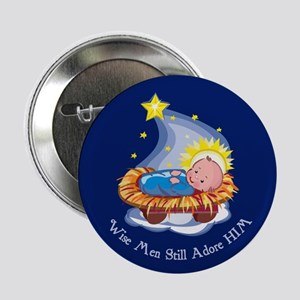 Wise Men Adore HIM Button