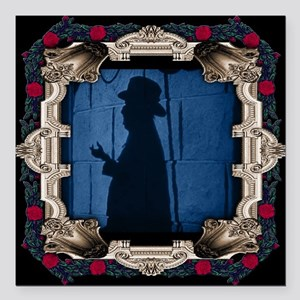 The Phantom Behind the Mirror with Red Rose Frame