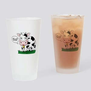 Moo? Drinking Glass