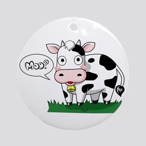 Moo? Ornament (Round)