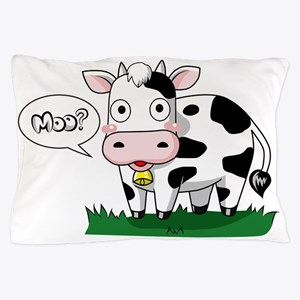 Moo? Pillow Case