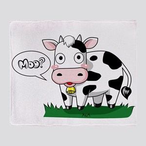 Moo? Throw Blanket