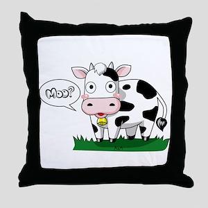 Moo? Throw Pillow