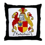 Packenham Family Crest Throw Pillow