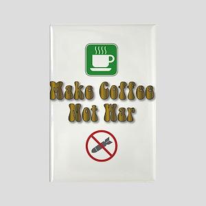 Make Coffee, Not War Rectangle Magnet