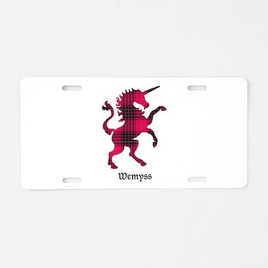 Unicorn-Wemyss Aluminum License Plate