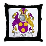 Pace Family Crest Throw Pillow