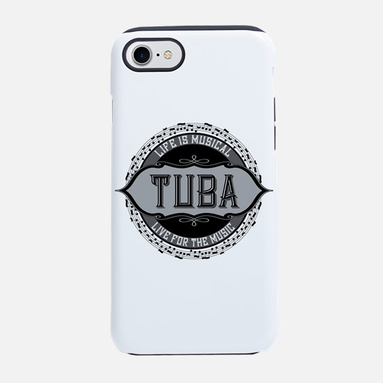 Tuba Music Note Circle iPhone 7 Tough Case