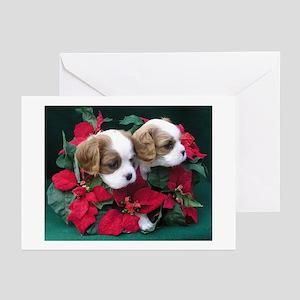 Xmas Cards (Pk of 10)-Christmas Cavalier Duo Greet