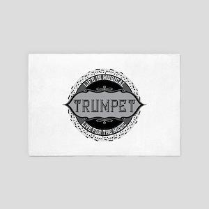 Trumpet Music Note Circle 4' x 6' Rug
