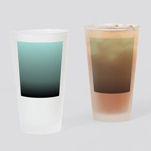 teal seafoam ombre Drinking Glass