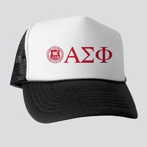 Alpha Sigma Phi Letters Crest Trucker Hat