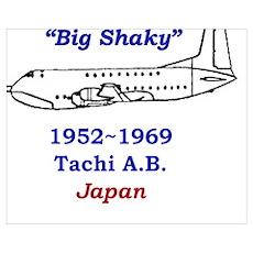 C-124 Big Shaky Tachikawa air base japan Poster