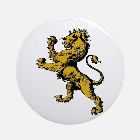 Rampant Lion Ornament (Round)