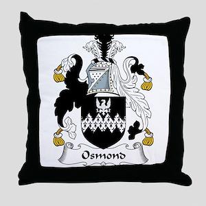 Osmond Family Crest Throw Pillow