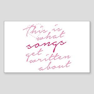 Nashville: Songs Sticker (Rectangle)