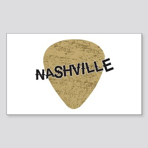 Nashville Guitar Pick Sticker (Rectangle)