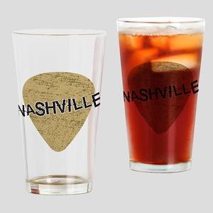 Nashville Guitar Pick Drinking Glass