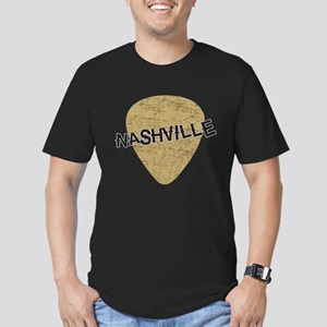 Nashville Guitar Pick Men's Fitted T-Shirt (dark)