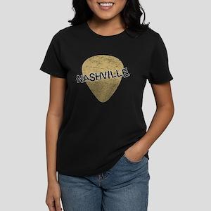 Nashville Guitar Pick Women's Dark T-Shirt