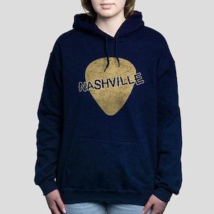 Nashville Guitar Pick Women's Hooded Sweatshirt