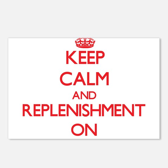 Keep Calm and Replenishme Postcards (Package of 8)
