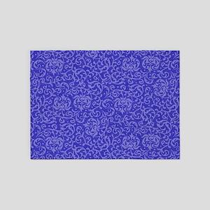 Tudor Garden Purple Blue 5'x7'Area Rug