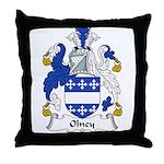 Olney Family Crest Throw Pillow