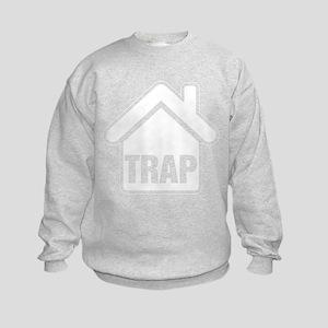 Trap house white Kids Sweatshirt