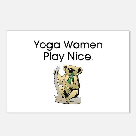 TOP Yoga Slogan Postcards (Package of 8)