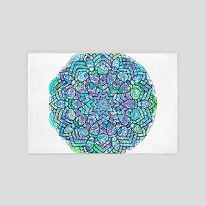 Colorful Abstract Mandala No.2 4' x 6' Rug