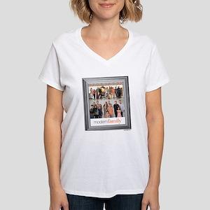 Modern Family Portrait Women's V-Neck T-Shirt