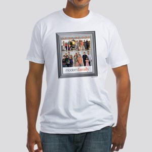 Modern Family Portrait Fitted T-Shirt