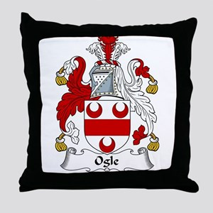 Ogle Family Crest Throw Pillow