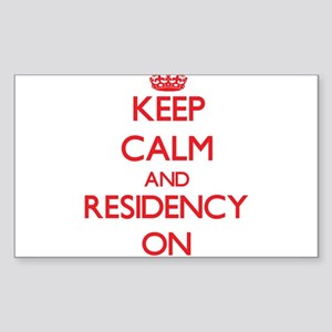 Keep Calm and Residency ON Sticker