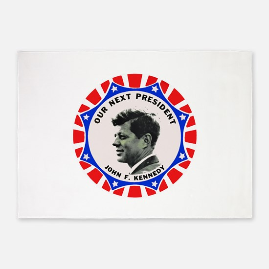 John F. Kennedy : Our Next President 5'x7'Area Rug