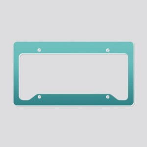watercolor teal ombre License Plate Holder