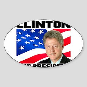 42 Clinton Sticker (Oval)