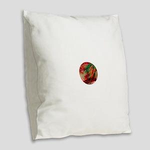 Glacial Storm Burlap Throw Pillow