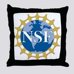 National Science Foundation Crest Throw Pillow