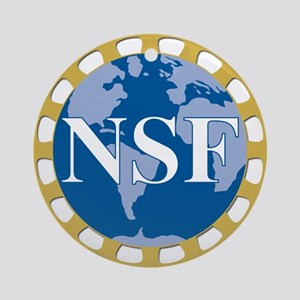 National Science Foundation Crest Round Ornament