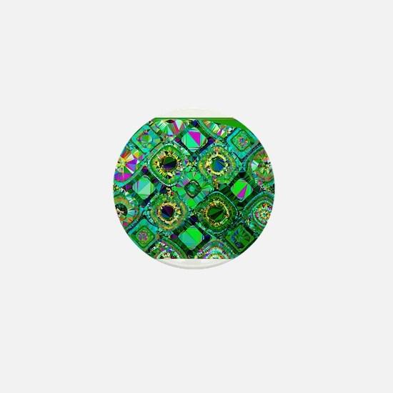 Mosaic 2 Geometric Low Poly Mini Button