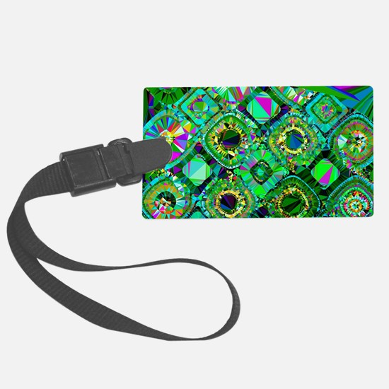 Mosaic 2 Geometric Low Poly Luggage Tag
