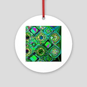 Mosaic 2 Geometric Low Poly Round Ornament
