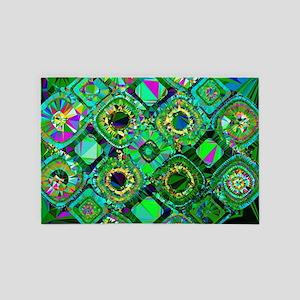 Mosaic 2 Geometric Low Poly 4' x 6' Rug