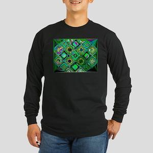 Mosaic 2 Geometric Low Poly Long Sleeve T-Shirt